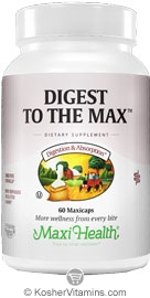 Maxi Health Kosher Digest To The Max  60 Maxicaps