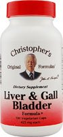 Dr. Christopher's Liver & Gall Bladder Formula Vegetarian Suitable Not Certfied Kosher 100 Vegetarian Capsules