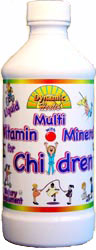 Dynamic Health Kosher Liquid Multi Vitamin with Minerals for Children Fruit Punch Flavor 8 OZ