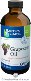 Earth's Care Grapeseed Oil 8 OZ