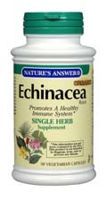 Natures Answer Kosher Echinacea Root 90 Vegicaps