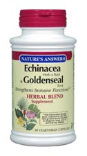 Natures Answer Kosher Echinacea & Goldenseal Root 90 Vegetable Capsules