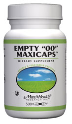 Maxi Health Kosher Empty MaxiCaps Vegetable Capsules Double Zero 500 Vegetable Capsules