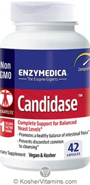 Enzymedica Kosher Candidase Yeast Level Support 42 Capsules