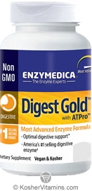 Enzymedica Kosher Digest Gold with ATPro 180 Capsules