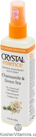 Crystal Essence Mineral Deodorant Body Spray Chamomile & Green Tea 4 OZ