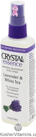 Crystal Essence Mineral Deodorant Body Spray Lavender & White Tea 4 OZ