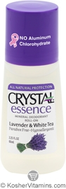 Crystal Essence Mineral Roll-On Deodorant Lavender & White Tea 1 Stick