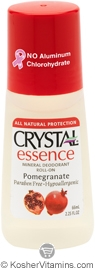 Crystal Essence Mineral Roll-On Deodorant Pomegranate 1 Stick