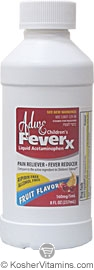 Adwe Kosher Children's FeverX Acetaminophen Liquid Fruit Flavor 8 OZ