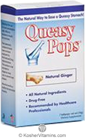 Three Lollies Kosher Queasy Pops Natural Ginger 7 Lollipops