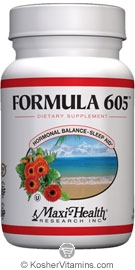 Maxi Health Kosher Formula 605 (Melatonin 3 Mg) 60 Vegicaps