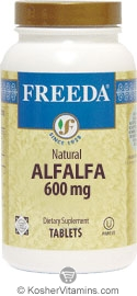 Freeda Kosher Alfalfa Concentrate 600 Mg. 250 TAB