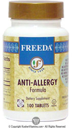 Freeda Kosher Anti-Allergy Formula 100 Tablets