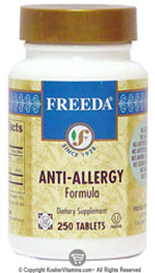 Freeda Kosher Anti-Allergy Formula 250 Tablets