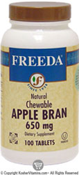Freeda Kosher Apple Bran Chewable 650 Mg 100 Tablets