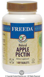 Freeda Kosher Natural Apple Pectin 300 Mg 100 Tablets