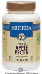 Freeda Kosher Natural Apple Pectin 300 Mg 250 Tablets