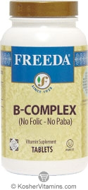 Freeda Kosher B Complex No Folic No Paba 100 TAB