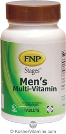 Freeda Kosher FNP Stages Men's Multi-Vitamin 180 Tablets