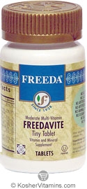 Freeda Kosher Freedavite Multi Vitamin Mineral Tiny Tablet  250 Tablets