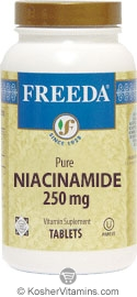 Freeda Kosher Niacinamide 250 Mg 100 Tablets