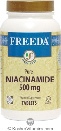 Freeda Kosher Niacinamide 500 Mg 500 Tablets