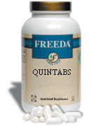 Freeda Kosher Quintabs Hi-Potency Multi-Vitamin (no minerals) 250 Tablets