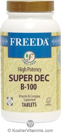 Freeda Kosher B Complex Super Dec 100 100 TAB