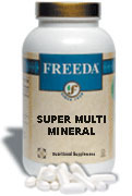 Freeda Kosher Super Multi Mineral  Formula W/ Iron 200 Tablets