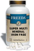 Freeda Kosher Super Multi Mineral  Formula Iron Free  200 Tablets
