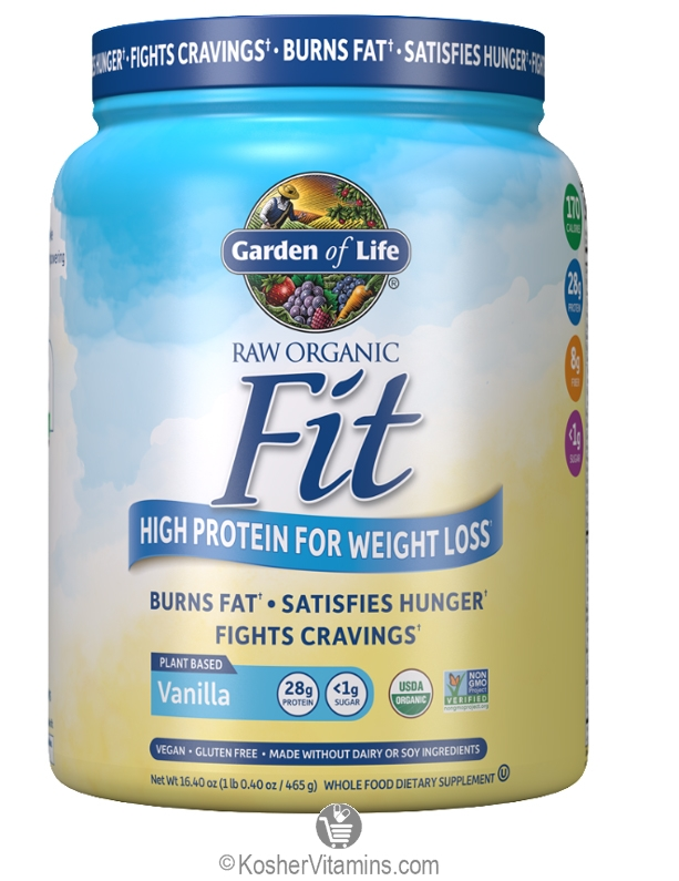 Garden of life kosher raw fit organic high protein powder - Garden of life vanilla protein powder ...