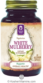 Genesis Today White Mulberry Vegetarian Suitable Not Certified Kosher 60 Vegetarian Capsules