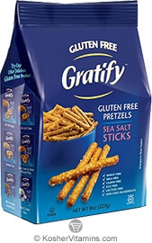 Gratify Kosher Gluten Free Pretzels Sea Salt Sticks 8 OZ