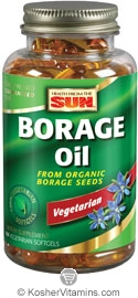Health From The Sun Organic Borage Oil 1000 Mg with GLA 200 Mg Omega-6,9 100% Vegetarian Suitable not Certified Kosher 60 Vegetarian Softgels