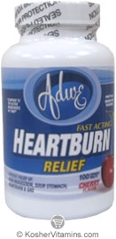 Adwe Kosher Calcium/Heartburn Relief (Compare to Tums) Chewable Cherry Flavor 100 Tablets