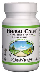 Maxi Health Kosher Herbal Calm 60 Vegetable Capsules