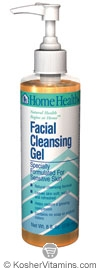 Home Health Facial Cleansing Gel for Sensitive Skin 8 OZ