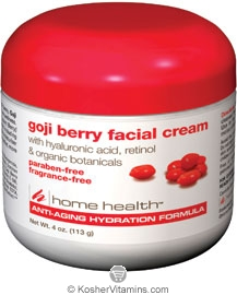 Home Health Goji Berry Facial Cream with Hyaluronic Acid, Retinol & Organic Botanicals 4 OZ