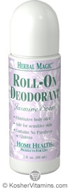 Home Health Herbal Magic Roll-On Deodorant Jasmine 3 OZ