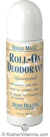 Home Health Herbal Magic Roll-On Deodorant Unscented  3 OZ