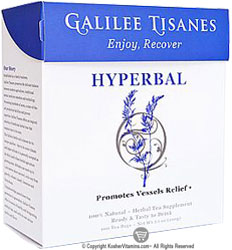 Galilee Tisanes Kosher Hyperbal (Promotes Healthy Vessels) 100 Tea Bags