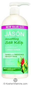 Jason Conditioner Pure Natural Smoothing Sea Kelp (Frizzy Hair) 32 OZ