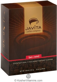 Javita Kosher Gourmet Instant Coffee (Burn + Control) 24 Sticks