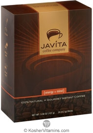 Javita Kosher Gourmet Instant Coffee (Energy + Mind) 24 Sticks