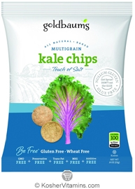 Goldbaum's Kosher Multigrain Kale Chips Touch of Salt 3 OZ