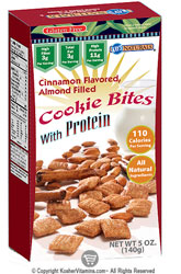 Kay's Naturals Kosher Protein Cookie Bites Cinnamon Almond Gluten Free Dairy Case of 6 5 OZ
