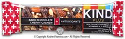 Kind Kosher Plus Antioxidants Bars Dark Chocolate Cherry Cashew OU Diary 12 Bars