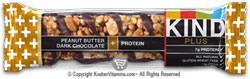 Kind Kosher Plus Protein Bars Peanut Butter Dark Chocolate OU Dairy 12 Bars