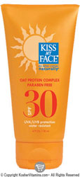 Kiss My Face Sun Screen Spf 30 With Oat Protein Complex 4 OZ